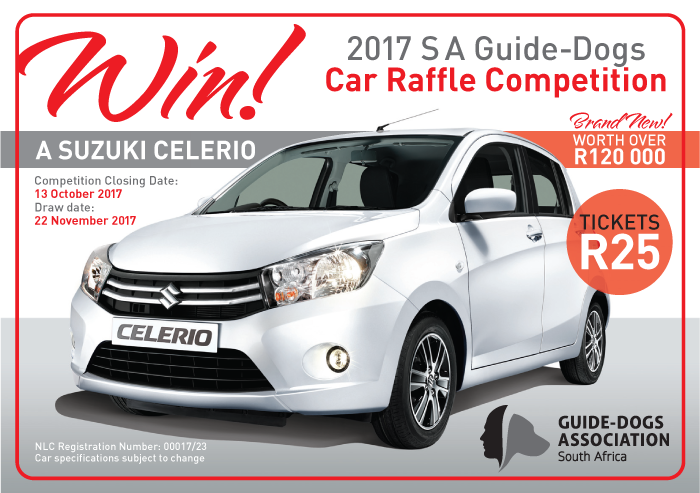 2017 S A Guide-Dogs Car Raffle Competition